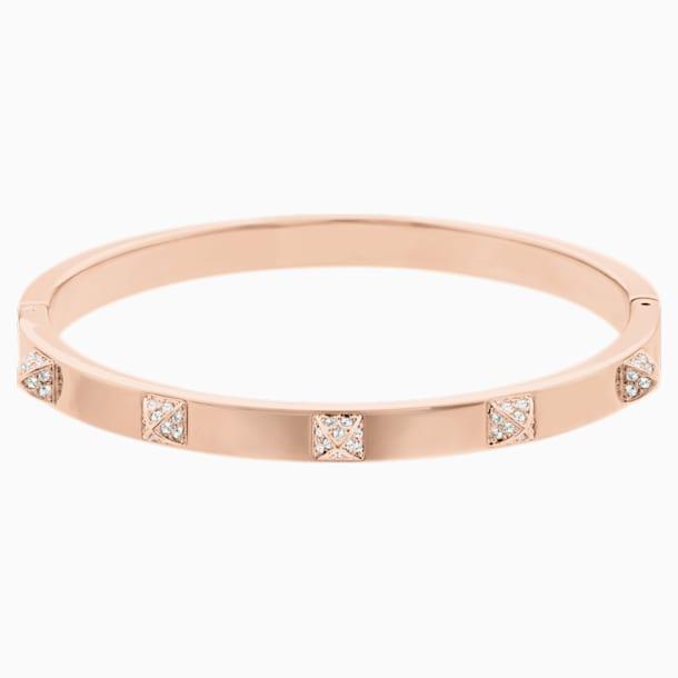 Bracelet-jonc Tactic, blanc, Métal doré rose - Swarovski, 5098368