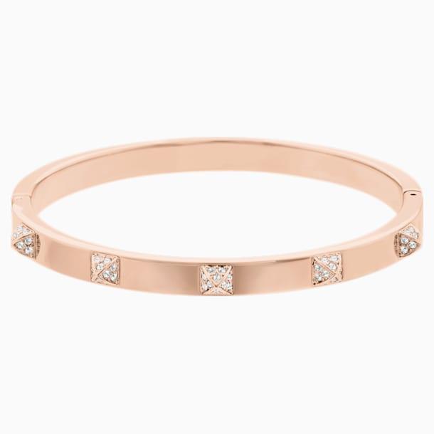 Bracelet-jonc Tactic, blanc, Métal doré rose - Swarovski, 5098834