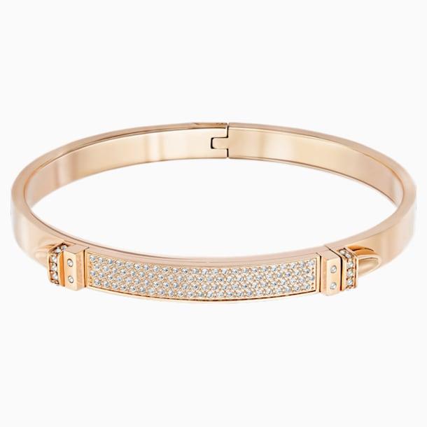 Bransoletka Distinct, biała, powłoka w odcieniu różowego złota - Swarovski, 5152481