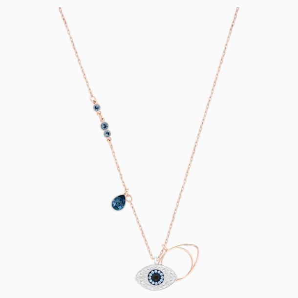 Swarovski Symbolic Evil Eye Pendant, Blue, Mixed metal finish - Swarovski, 5172560
