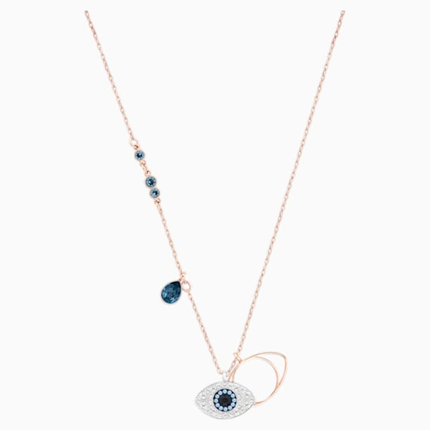 Swarovski Symbolic Evil Eye Pendant, Blue, Mixed metal finish - Swarovski, 5172560