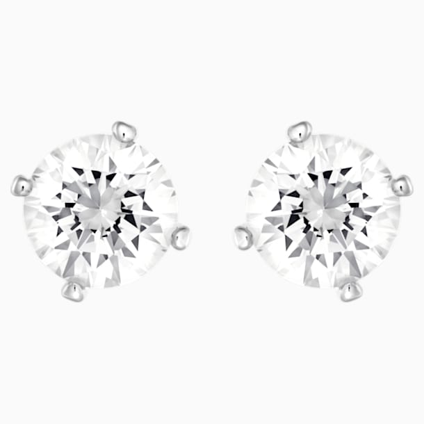 Angelic Pierced Earrings, White, Rhodium plated - Swarovski, 5183618