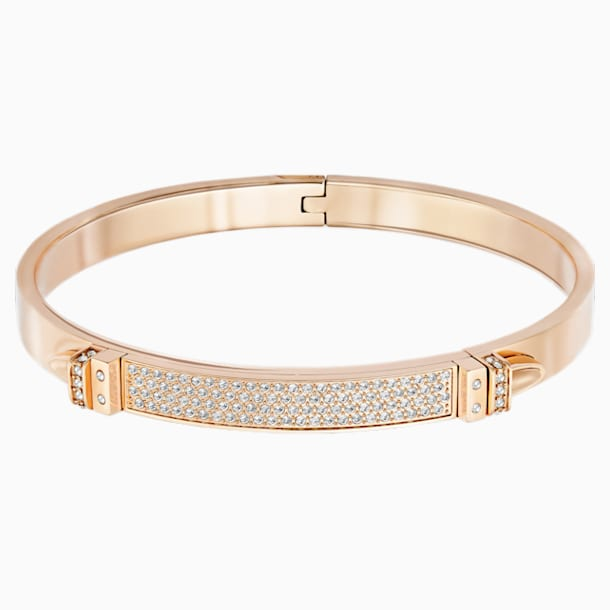 Distinct Bangle, White, Rose-gold tone plated - Swarovski, 5184154
