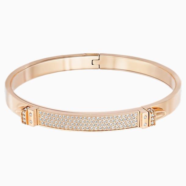 Brățară Distinct, albă, placată în nuanță de aur roz - Swarovski, 5184154