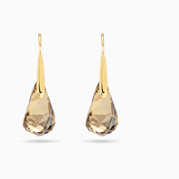 Energic Pierced Earrings, Golden, Gold-tone plated - Swarovski, 5195920