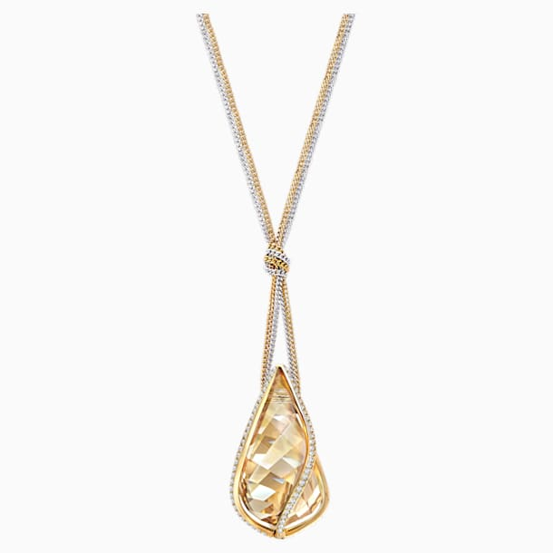 Energic Pendant, Golden, Mixed metal finish - Swarovski, 5195924