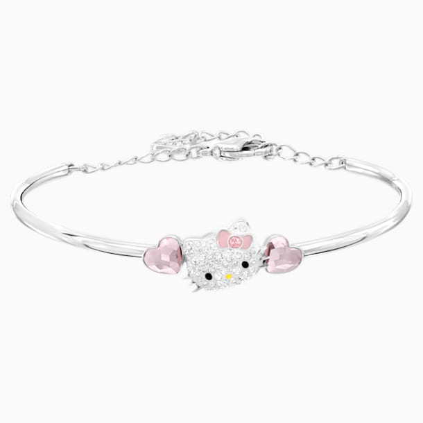 Hello Kitty Heart Bangle, Pink, Stainless steel - Swarovski, 5197312