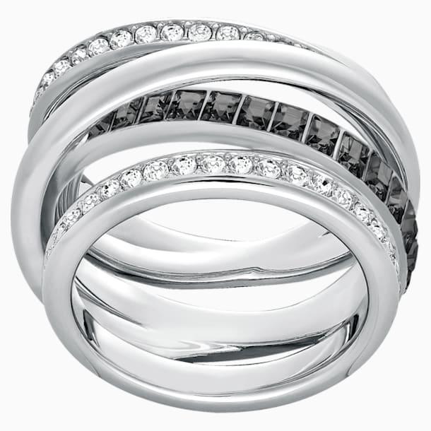 Dynamic Ring, Gray, Rhodium plated - Swarovski, 5202250