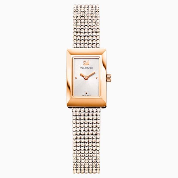 Memories Watch, Crystal Mesh strap, White, Rose-gold tone PVD - Swarovski, 5209184