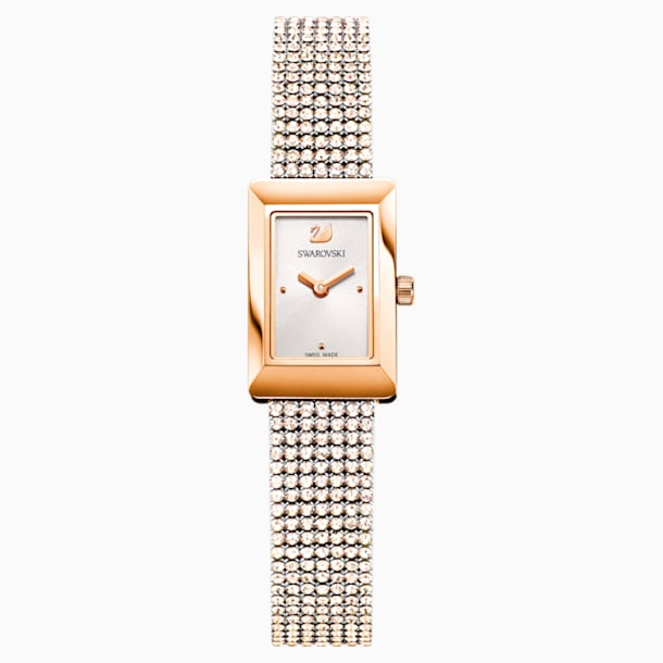 Memories Uhr, Crystal Mesh Armband, weiss, Rosé vergoldetes PVD-Finish - Swarovski, 5209184