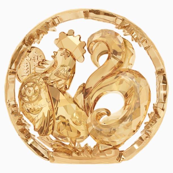 Chinese Zodiac - Rooster , Gold Tone - Swarovski, 5213550