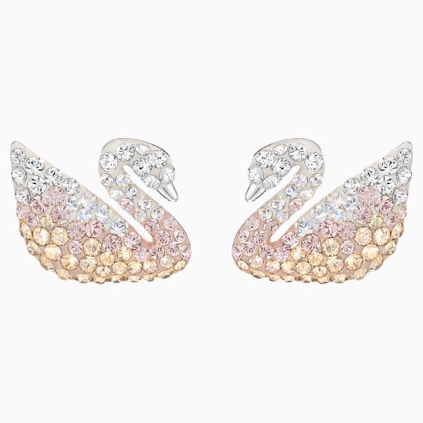 Swarovski Iconic Swan İğneli Küpeler, Cok Renkli, Rodyum kaplama - Swarovski, 5215037