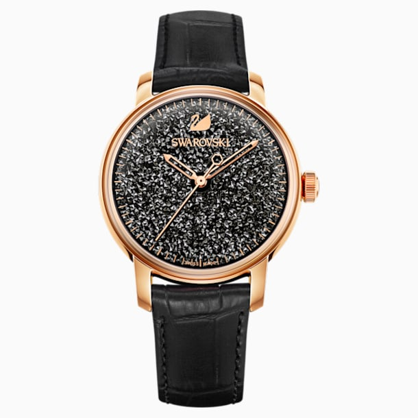 Crystalline Hours Watch, Black - Swarovski, 5218902