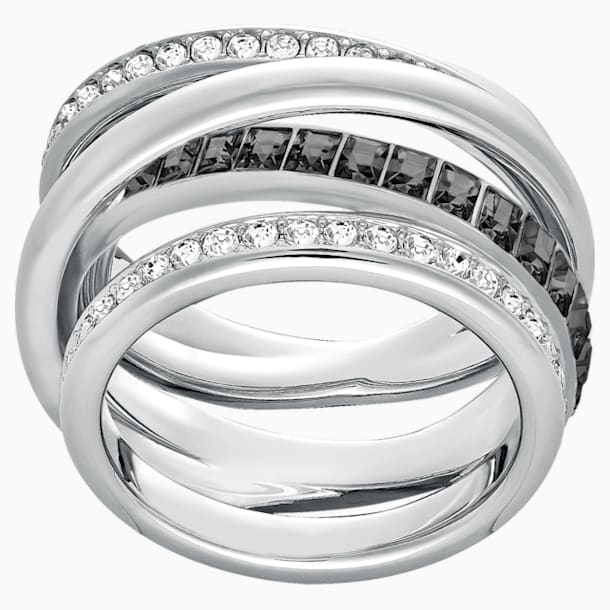 Dynamic Ring, Gray, Rhodium plated - Swarovski, 5221438