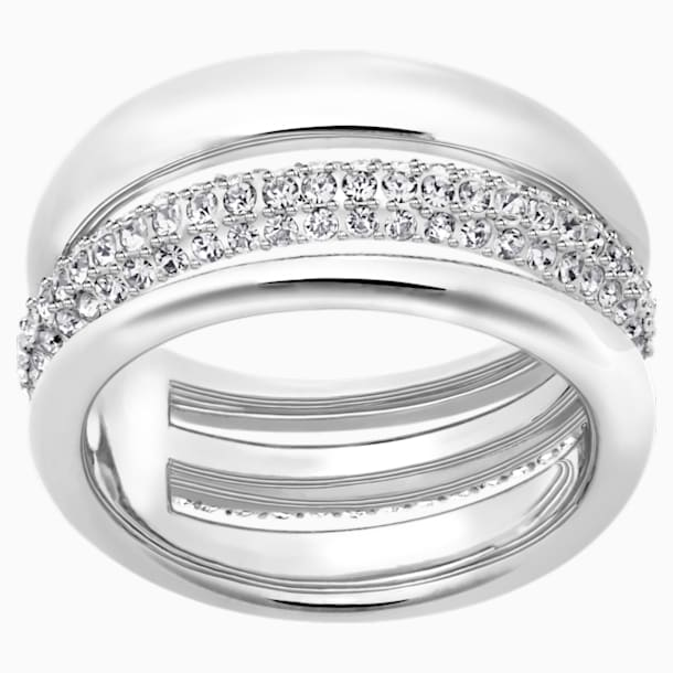 Exact Ring, White, Rhodium plated - Swarovski, 5221566