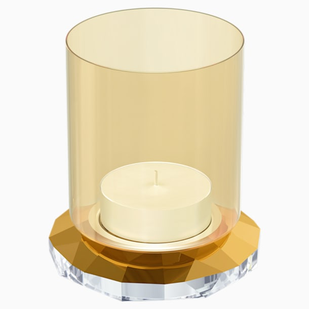 Allure Tea Light Holder, Gold Tone - Swarovski, 5235859
