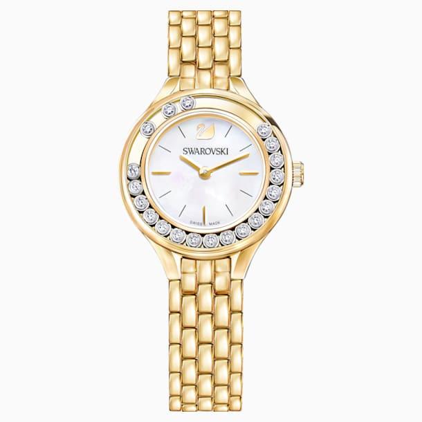 Zegarek Lovely Crystals, bransoleta z metalu, powłoka PVD w odcieniu złota - Swarovski, 5242895