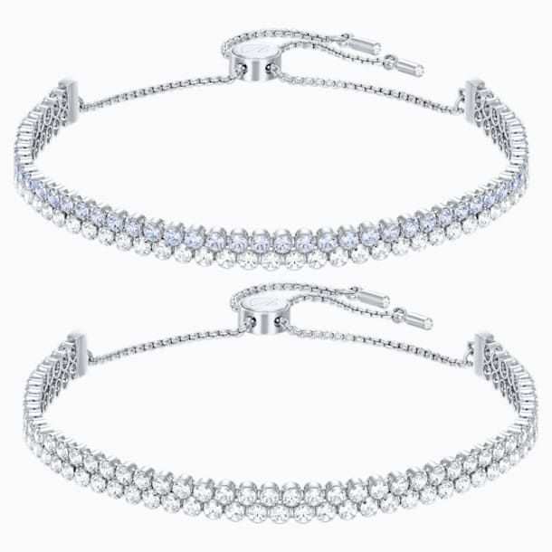 Subtle Set, White, Rhodium Plating - Swarovski, 5253055