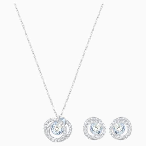 Parure Generation, bleu, métal rhodié - Swarovski, 5255523