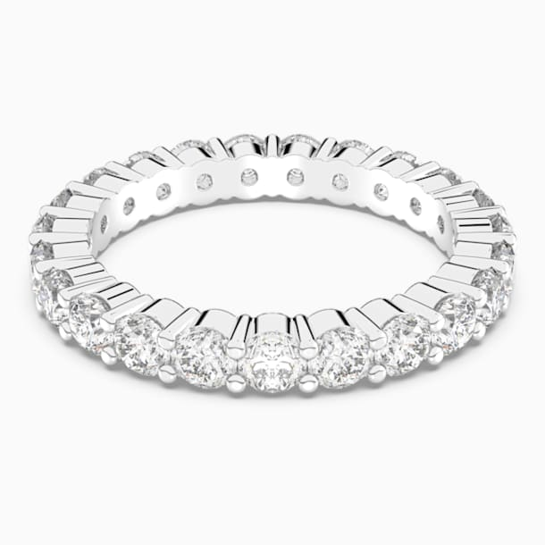 Vittore XL 戒指, 白色, 鍍白金色 - Swarovski, 5257479