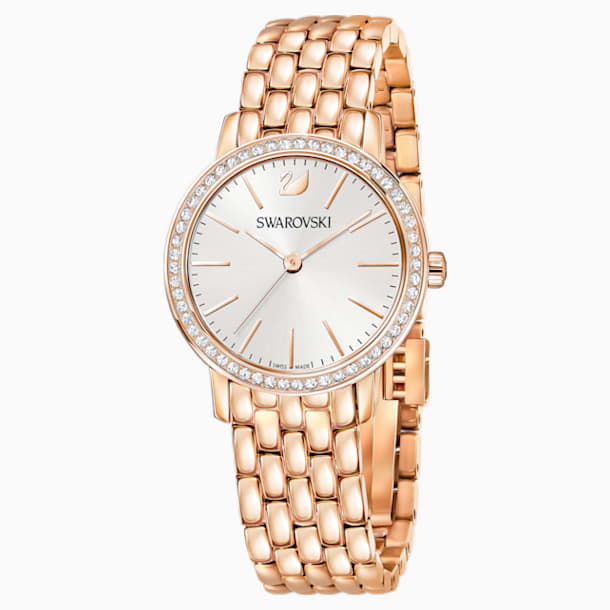 Graceful 手錶, 金屬手鏈, 玫瑰金色調PVD - Swarovski, 5261490