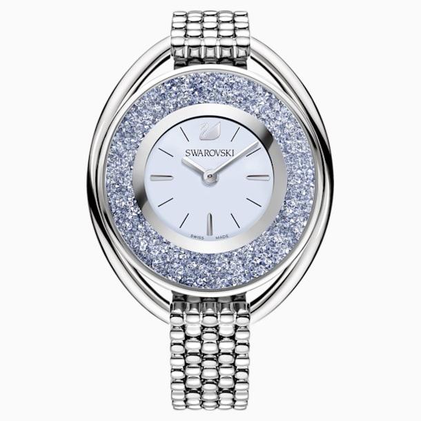 Crystalline Oval 手錶, 金屬手鏈, 藍色, 銀色 - Swarovski, 5263904