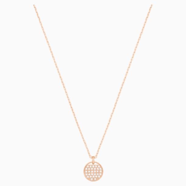 Ginger Подвеска, Белый Кристалл, Покрытие оттенка розового золота - Swarovski, 5265913