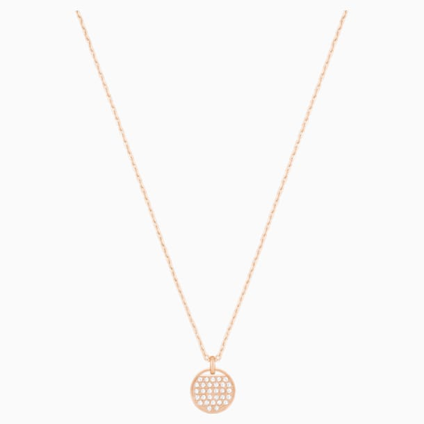 Ginger Pendant, White, Rose-gold tone plated - Swarovski, 5265913