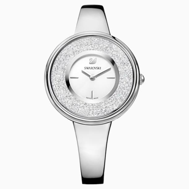 Crystalline Pure Часы, Металлический браслет, Белый Кристалл, Нержавеющая сталь - Swarovski, 5269256