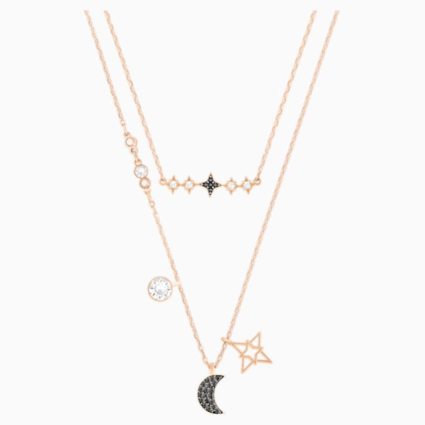 Swarovski Symbolic Moon Necklace Set, Multi-colored, Mixed metal finish - Swarovski, 5273290