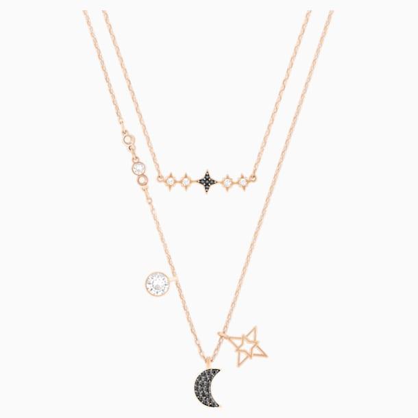 Swarovski Symbolic Moon 네크리스 세트, 멀티컬러, 믹스메탈 피니시 - Swarovski, 5273290