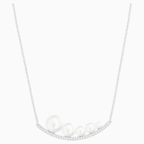 Fundamental Necklace, White, Rhodium plated - Swarovski, 5274299