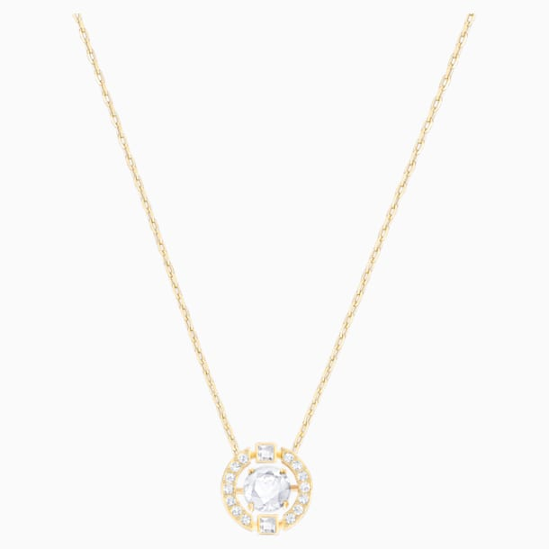 Swarovski Sparkling Dance Round Necklace, White, Gold-tone plated - Swarovski, 5284186