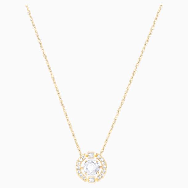 Swarovski Sparkling Dance Round 项链, 白色, 镀金色调 - Swarovski, 5284186