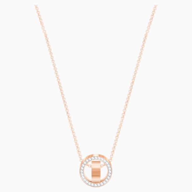 Přívěsek Hollow, bílý, pozlacený růžovým zlatem - Swarovski, 5289495