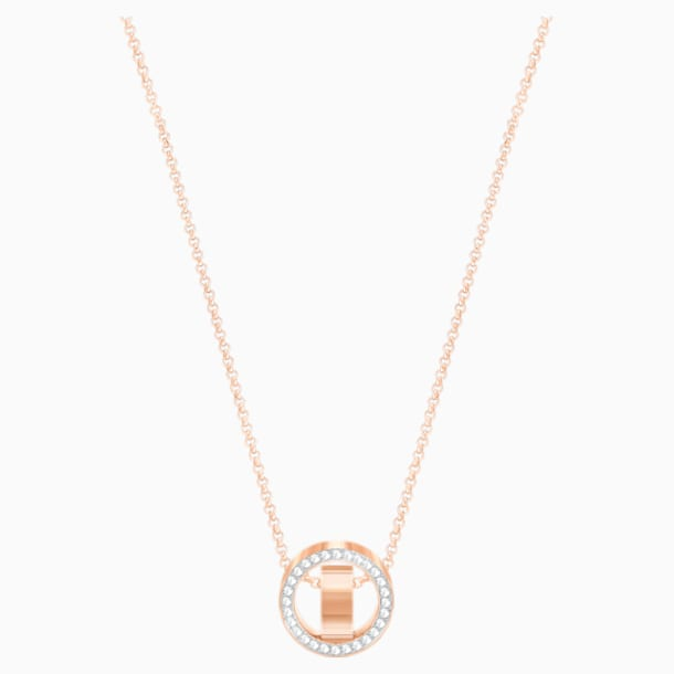 Pendentif Hollow, blanc, Métal doré rose - Swarovski, 5289495