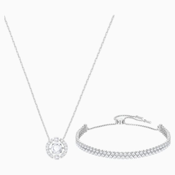 Sparkling Dance Set, Medium, White, Rhodium Plating - Swarovski, 5291059