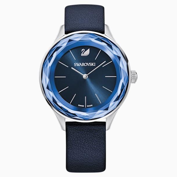 Ρολόι Octea Nova, δερμάτινο λουράκι, μπλε, ανοξείδωτο ατσάλι - Swarovski, 5295349