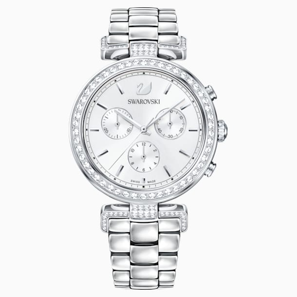 Relógio Era Journey, pulseira em metal, branco, aço inoxidável - Swarovski, 5295363