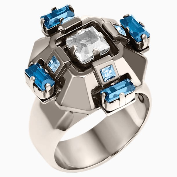 Cristaux Deco Ring, ruthenium plating - Swarovski, 5298740