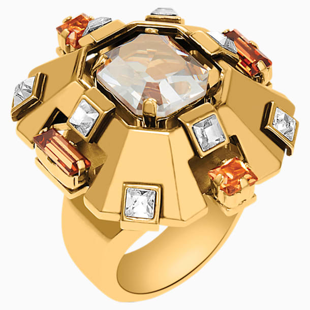 Cristaux Deco Large Ring, Gold-tone plated - Swarovski, 5298750