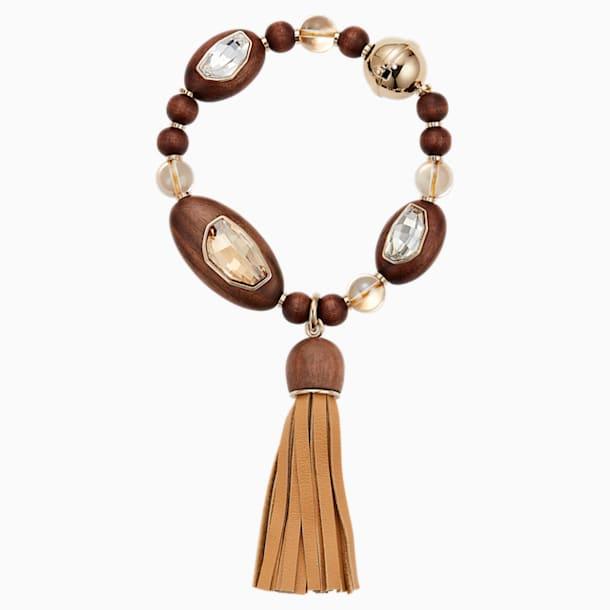Wood Crystallized Tassell Bracelet, palladium plating - Swarovski, 5298916