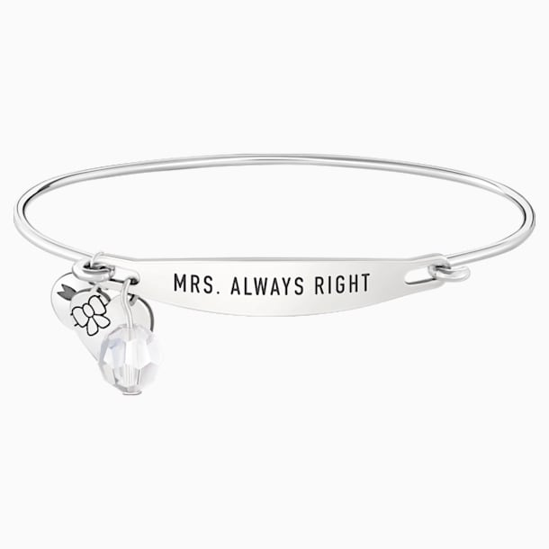 Mrs. Always Right ID Bangle - Swarovski, 5301837