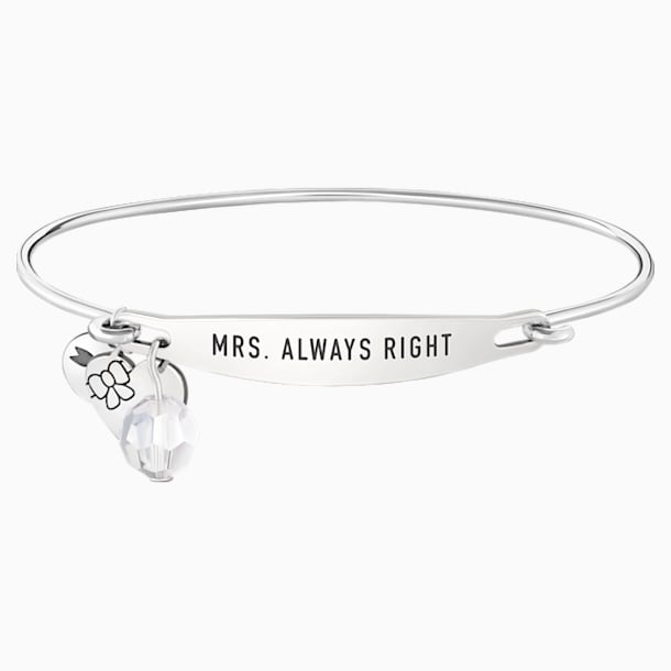 Mrs. Always Right ID Bangle - Swarovski, 5301838