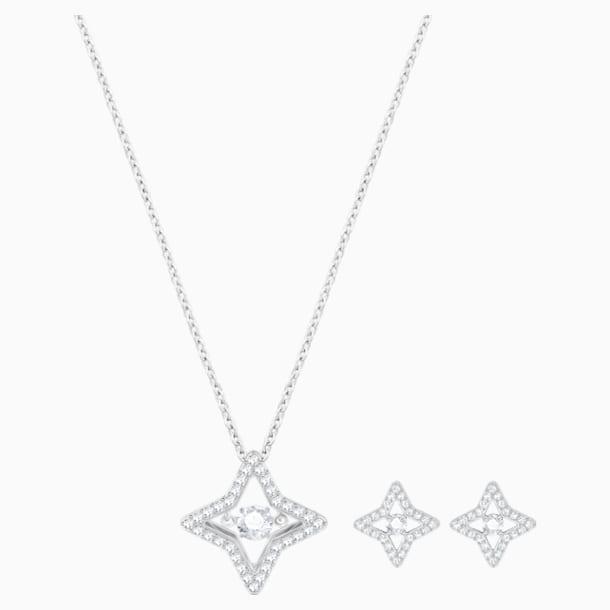 Sparkling Dance Star 세트, 화이트, 로듐 플래팅 - Swarovski, 5349667