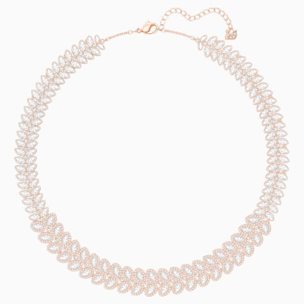 Collier Baron, blanc, Métal doré rose - Swarovski, 5350615