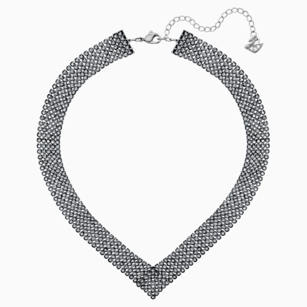 스와로브스키 Swarovski Fit Necklace, Black, Ruthenium plating