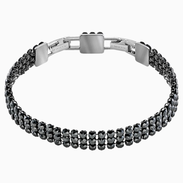 스와로브스키 Swarovski Fit Bracelet, Black, Ruthenium plated