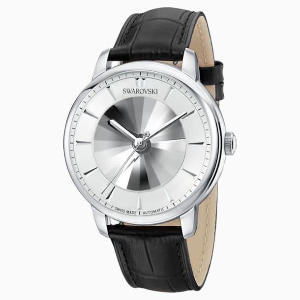 Αυτόματο Αντρικό Ρολόι Atlantis Limited Edition, δερμάτινο λουράκι, λευκό, ανοξείδωτο ατσάλι - Swarovski, 5364206