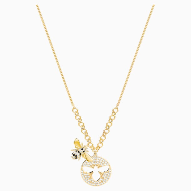 Lisabel Necklace, White, Gold-tone plated - Swarovski, 5365641
